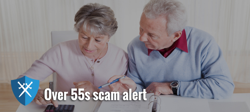 FCA scam alert for over 55s