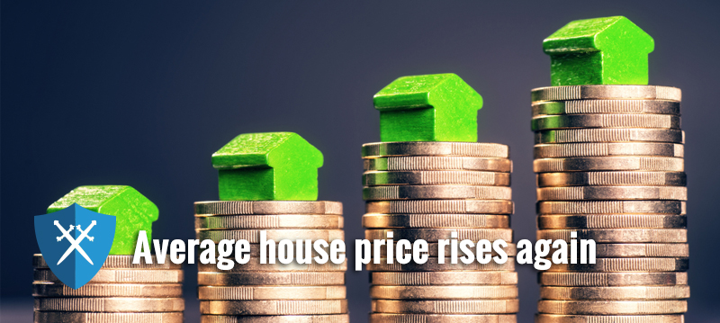 Average UK house price £12,000 up on last year